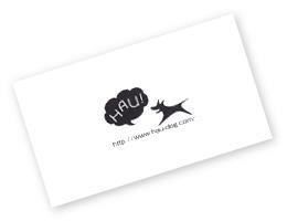 HAUのギフトラッピング オリジナルメッセージカード付き|犬グッズ通販HAU