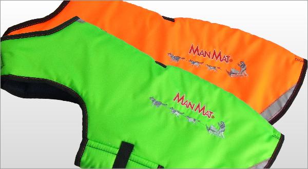 冬用犬の服/防寒用ドッグコート|MANMAT サーモコート オレンジ ライムグリーン 寒さ対策におすすめ|犬用品通販HAU