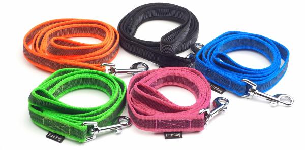 ブラック、オレンジ、ブルー、グリーン、ピンク|FIREDOG ラバーグリップリーシュ|犬グッズ通販HAU
