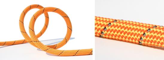 反射材付ロッククライミングロープ|TUENNE マンモスリーシュ(スクリューゲートカラビナ付き犬用リード)|犬グッズ通販HAU