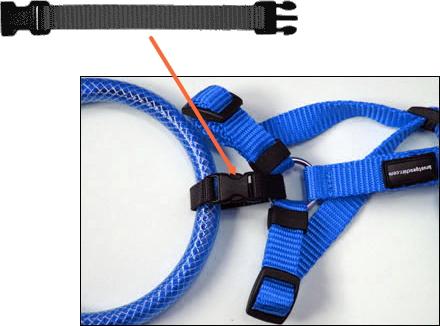 脱落防止用ストラップが付属|LEDドッグカラー LEUCHTIE (小型犬用セーフティーライト)|犬グッズ通販HAU
