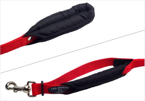 柔らかいパッド入りの持ち手|ダブルセーフティーハンドルリーシュ(中・大型犬用リード) Tre Ponti|犬グッズ通販HAU