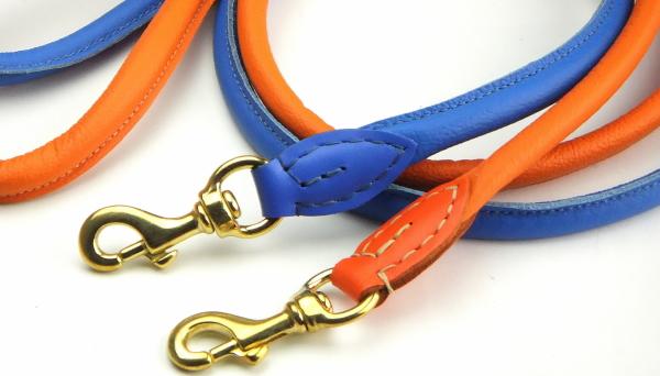 丈夫で柔らかい革製犬用リードラウンドレザーリーシュ /ポーランド製|犬グッズ通販HAU