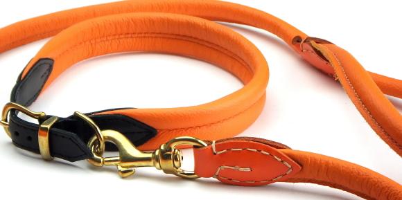 柔らかいクッション構造の犬用革製首輪|ポーランドソフトレザーカラー 25mm|犬グッズ通販HAU